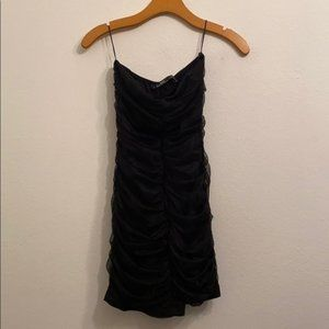 Zara trf collection black bodycon dress size large